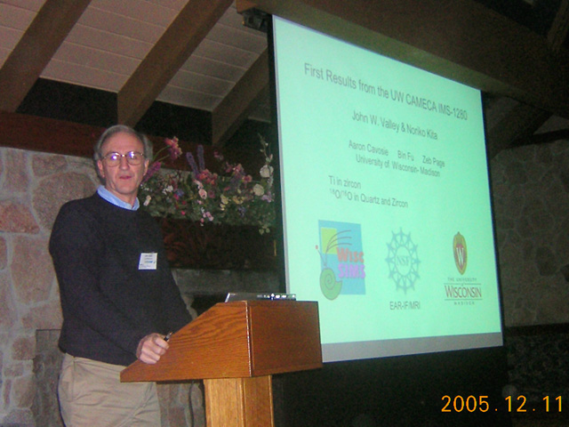 John Valley lecturing, Lake Arrowhead.